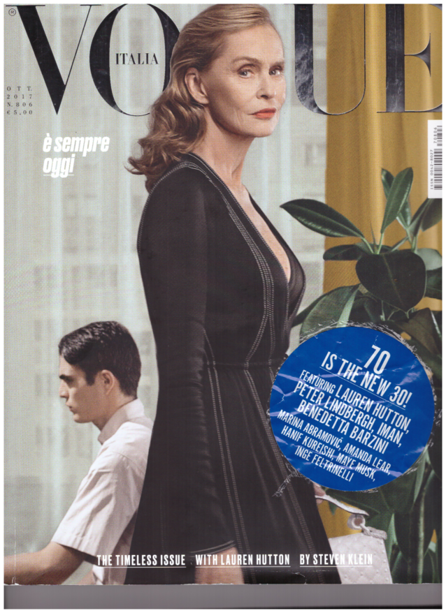Moda e età - la copertina di Vogue